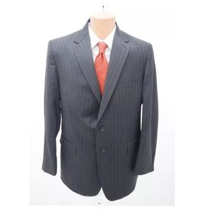 Sewell Pinstripes Wool 2-Piece Suit Size 42R 36R